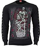 Spiral - Mens - Rest in Peace - Laceup Sleeve Gothic Top - XL Black