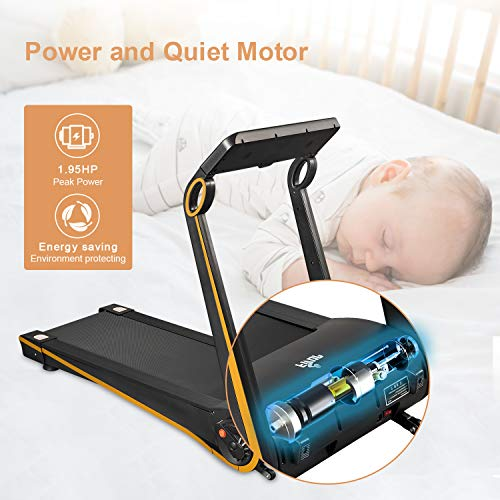Fisup Foldable Smart Treadmill for Home Office Use Exercise Walking Jogging Silent with APP Installation Free 4