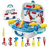 Wghz Kit de médicos para niños Juguetes de simulación de Juegos de Roles para niños Herramientas de Juguete para Enfermeras Juguetes educativos Juego de médicos para niños para niños Niñas pequeñ