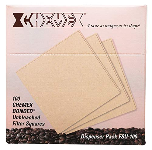 Chemex Bonded Filter - Natural Square - 100 ct - Exclusive Packaging