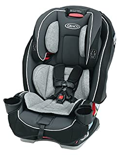 All in One seat grows with Your child from 5 100 pound, rear to forward facing and becomes a belt positioning booster; save space in Your back seat with Unique rotating cup Holders; metal and plastic parts may be cleaned with mild soap and Cool Water...