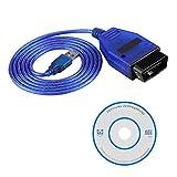 Cable USB para coche OBD2, cable de diagnóstico Keenso para
