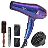 CONFU 2200W Professional Hair Dryer, Compact Blow dryer, Negative ionic Hair Dryer With Diffuser And...