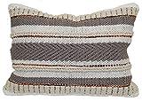 Brentwood Originals Multi Texture Stripe Pillow, 14' x 20', Neutral