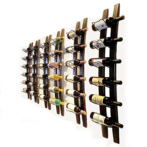 Portabottiglie da parete a forma di barile, intagliato a mano, in grado di contenere nr.6 bottiglie,...