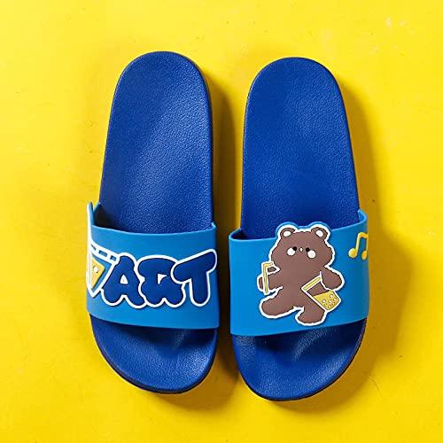 ypyrhh Zapatilla de Plataforma con cuña para Mujer,Coppia pantofole morbide,bagno di casa-Deep Blue_42-43,Zapatillas de Estar por Casa de Mujer/Hombre