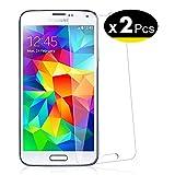 NEW'C Lot de 2, Verre Trempé pour Samsung Galaxy S5 Film Protection écran...