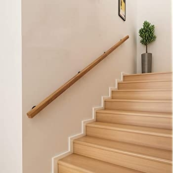 Yude 4Ft Pine Stair Handrail Solid Wood Non Slip Safety Railing   Handrail Wood Home Depot   Balusters   Pressure Treated Lumber   Deck Railing   Staircase   Stair Railings