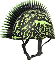 Radical printed dinosaur graphics are printed with glow in the dark paint! 3D bendable mohawk Recommended for kids 3+, but will fit most heads measuring 48-52cm. Head sizes and shapes can vary, even within an age range. ALWAYS take a head measurement...