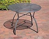greemotion Gartentisch Toulouse rund aus kunststoffummanteltem Stahl - 6