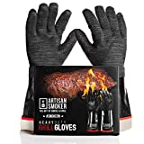Artisan Smoker Heat Resistant Gloves for Grill,Easy to Clean BBQ Gloves for Smoker,Waterproof,Oil...
