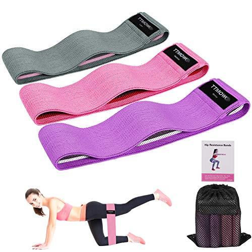 TTMOW Elastici Fitness(3 Pezzi), Set Fasce Elastiche Fitness in Tessuto con 3 Livelli di Resistenza...