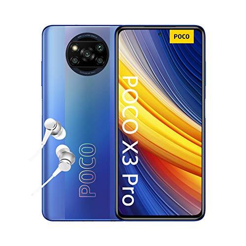 POCO X3 PRO Smartphone (16,94cm (6,67') FHD+ LCD DotDisplay 120Hz, 8GB+256GB Speicher, 48MP Quad-Rückkamera, 20MP Frontkamera, Dual-SIM, Android 11) Blau - [Exklusiv bei Amazon]