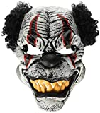 California Costumes Men's Ani-Motion Masks - Last Laugh The Clown Ani-Motion Mask, Black/Red, One Size