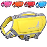 VIVAGLORY Dog Life Vest, Skin-Friendly Neoprene Life Jacket for Dogs with Superior Buoyancy and Rescue Handle, Lemon Yellow, Small
