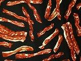 Bacon Strips Meat Bacon Snacks Food Cotton Fabric 1/2 Half Yard(18x 44)