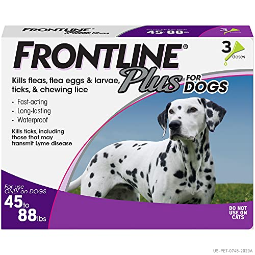 Frontline Plus Flea and Tick Treatment for Dogs...