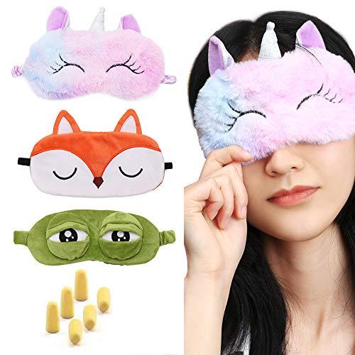 3 PCS Masque de sommeil Masque pour les yeux de voyage Couvre-masque pour...