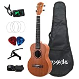 Tiamu 26 Inch Ukelele Tenor Sapele Acoustic Guitaar Hawaii Full Kits Ukulele Guitar for Beginner Kids