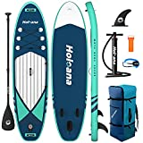ISSYAUTO Inflatable Paddle Board Stand Up SUP 10'6'×31'×6' Ultra-Light Inflatable Paddle Boards, Non-Slip Deck Pad, with Backpack, Leash, Paddle and Hand Pump