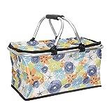 Sac Isotherme Lunch Bag pliable 30L refroidisseur Big Panier de pique-nique 4 personnes, sac isolant...