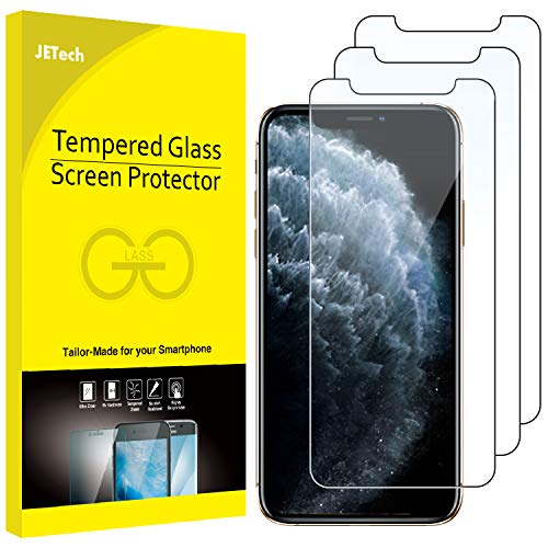 JETech Pellicola Protettiva compatible iPhone 11 Pro, compatible iPhone Xs, compatible iPhone X 5,8' in Vetro Temperato, Pacco da 3