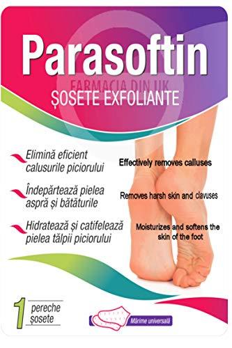 Parasoftin - Calzini esfolianti per la rimozione totale di calli e pelle morta, per piedi morbidi