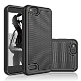 NJJEX ZTE Blade Vantage Case, ZTE Tempo X/AVID 4 /Avid 557/N9137/Z839 Case, [Nveins] Shockproof Hybrid Dual Layers Rubber Plastic Shell Impact Defender Bumper Rugged Cover [Black] Compatible with ZTE