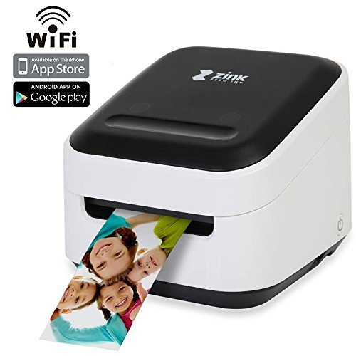 ZINK Phone Photo & Labels Wireless Printer. Wi-Fi Enabled. Print Directly from IOS & Android Smart Phones, Tablets. Includes FREE Arts & Crafts App.