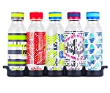 Reduce WaterWeek Reusable Water Bottles, 20oz – 5 Plastic Refillable Water Bottles and Fridge Tray For Your Reusable Water Bottle Set – BPA-Free, Leak Proof Twist Off Cap – Score