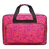 Bolsa de máquina de coser, bolsa de viaje universal para máquinas de coser y accesorios estándar 46*24*31cm rosso