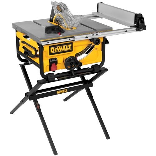 DEWALT 10-Inch Portable Table Saw with Stand (DWE7480XA)