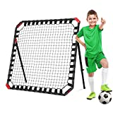 Net Playz Easy Playz Portable Soccer Rebounder, 4 Ft x 4 Ft, Easy Set Up, Sturdy Metal Tube, With Quick Folding Design, No Assembly Needed! Multi Angle Adjustment, Carry Bag Included, Black (ODS-2025)