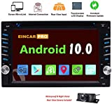 EINCAR Android 10.0 Double 2 Din Car Stereo DVD Player Radio In Dash GPS Navigation TouchScreen Bluetooth Head Unit Phone Mirroring Dual CAM-IN WIFI SWC External Mic 3G/4G+FREE Back camera