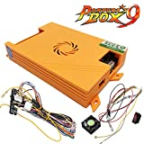 TAPDRA Pandora's Box 9 Arcade Board, 1500 Retro Multi Video Games, Arcade Cabinet Console Machine DIY Kit, with Harness Cable/Power Switch Adapter, HDMI VGA 720P LCD Monitor