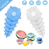 Couvercle Silicone Alimentaire 12 Pièces, Couvercle Silicone...