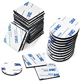 120 Pezzi Pad Biadesivo, Adesivo in Schiuma, Adesivo in Nastro Adesivo Forte per Anti-Rumore/Resistente Colpi/Nero Impermeabile, Quadrato e Rotondo