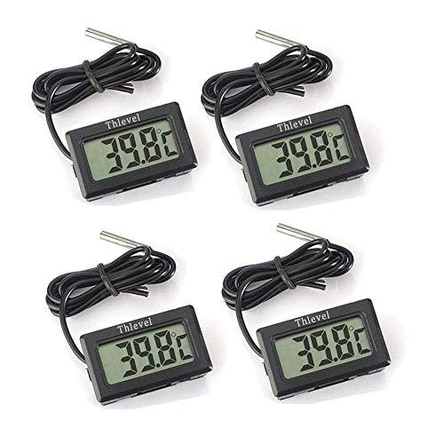 Thlevel Termometro Digitale LCD Termometro con sonda Esterna per Frigorifero Frigorifero congelatore...