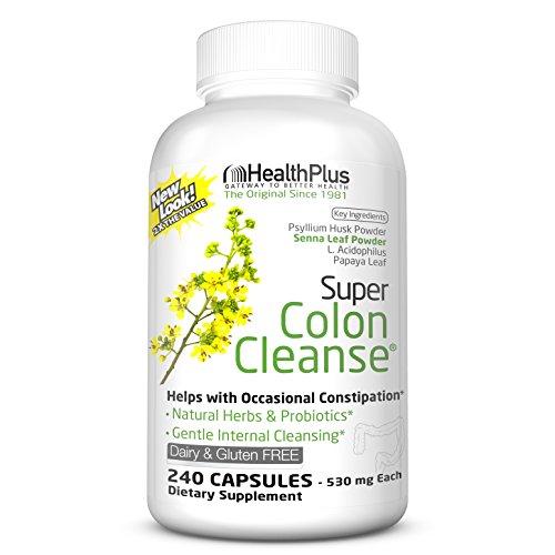 Health Plus Inc Super Colon Cleanse 530 mg 240 Capsules