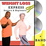 Weight Loss Exercise for Seniors and Beginners- 5 Fat Buring Workouts + Resistance Band. Easy to follow fitness program, burns calories, fun to do! Low impact exercise DVD for seniors and beginners.