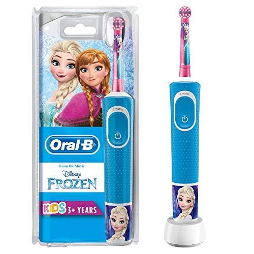 Oral-B Kids Spazzolino Elettrico Ricaricabile 1 Manico con Personaggi Disney Pixar Frozen, per età da 3 anni
