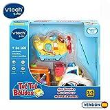 VTech Tuttut Lot de 3 Voitures Multicolore Bus, Petit Avion, Formule 1 Assorti