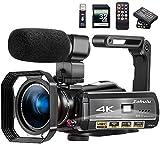 Video Camera 4K Camcorder ZOHULU Vlog Camera for YouTube, HD Digital Camera with 30X Digital Zoom...