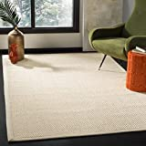 Safavieh NF150A-8 Natural Fiber Collection Abstract Area Rug, 8' x 10', Ivory/Light Beige Sisal