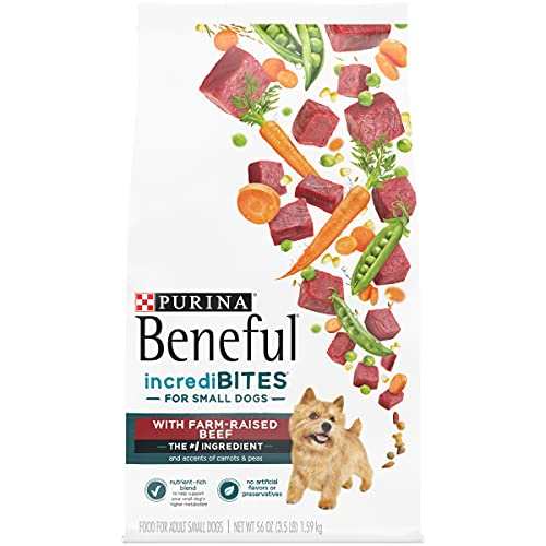 Purina Beneful Incredibites with Farm-Raised Beef, Small Breed Dry Dog Food - 3.5 lb. Bags (Pack of 4)