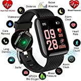 Dronean DAS123 116 Smart Band Fitness Tracker, Color Screen Smart Wristband Fitness Bracelet Blood Pressure Heart Rate Monitor Compatible for All Device (Assorted Colour)