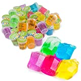 Kicko Mini Putty with Glitter - 48 Pack Assorted Neon Color Sludge - Educational Fidget Toy Ideal for Relaxation and Sensory Stimulation, Event Prizes, Goody Bags, Activity Set, Kids, Boys and Girls, Party Favors
