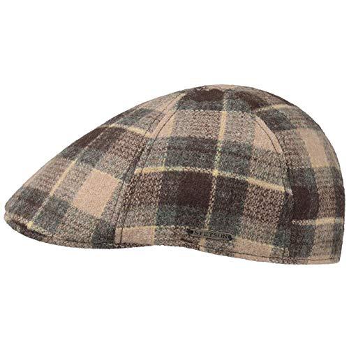 Stetson Coppola Texas Woolrich Check Gatsby Uomo - Cappello Piatto Berretto Cappellino in Lana con Visiera, Fodera, Fodera Autunno/Inverno - XXL (62-63 cm) Marrone
