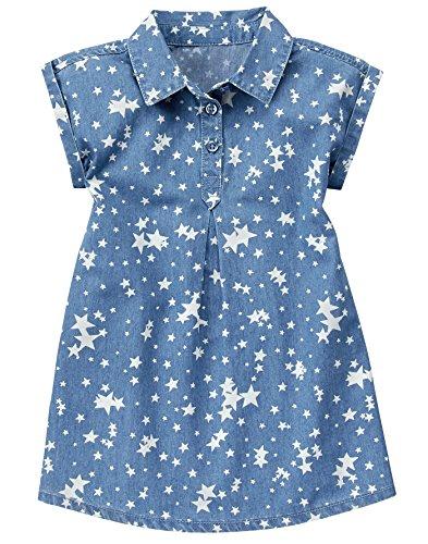 Crazy 8 - Vestido de Estrella Chambray para niñas, Chambray, 5