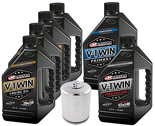 MaximaHiflofiltro VTTOCK24 Complete Engine Oil Change Kit for V-Twin Synthetic Blend Harley Davidson Twin Cam, 6 Quart